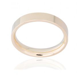 Bague alliance ATELIER P. en or jaune 18 carats ruban confort pour femme - 4 mm