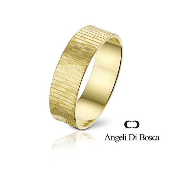 Bague alliance Angeli Di Bosca en or jaune 18 carats