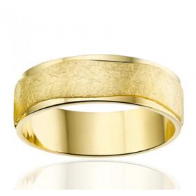 Bague alliance Angeli Di Bosca en or jaune 18 carats feuilleté  et polie 6,5 mm
