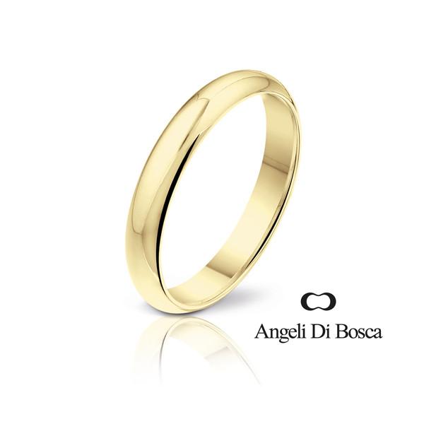 Bague alliance Angeli Di Bosca en or jaune 18 carats semi-bombée