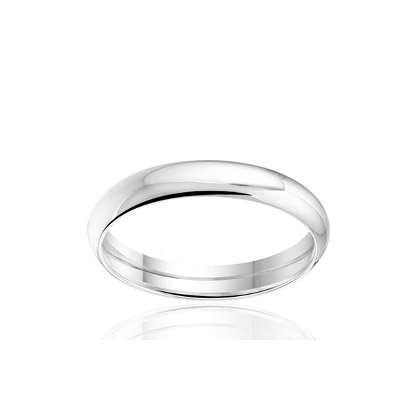 Bague alliance Angeli Di Bosca en or blanc 18 carats demi-jonc
