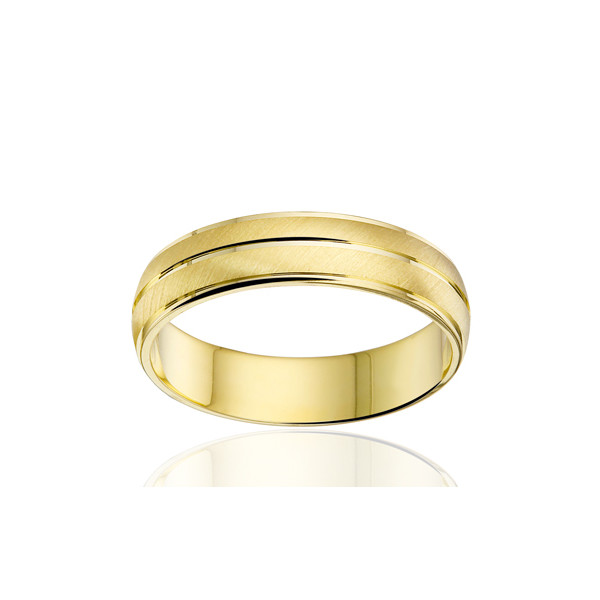 Bague alliance Angeli Di Bosca en or jaune 18 carats 5 mm