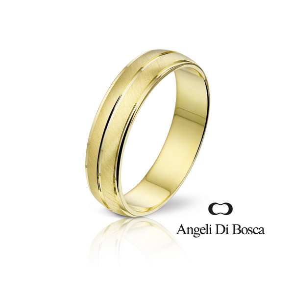 Bague alliance Angeli Di Bosca en or jaune 18 carats 5 mm