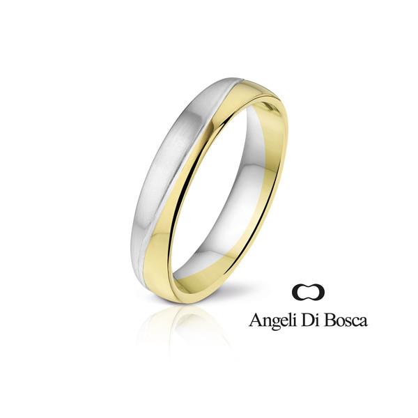 Bague alliance Angeli Di Bosca deux ors 18 carats - 4,5 mm