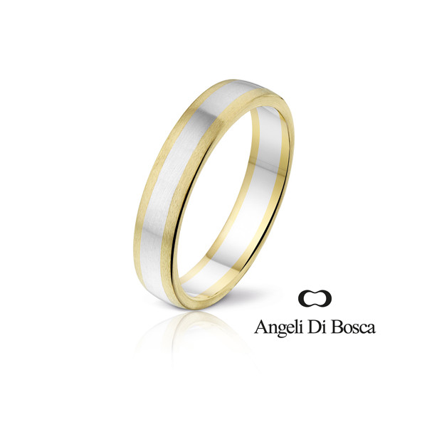 Bague alliance Angeli Di Bosca deux ors 18 carats