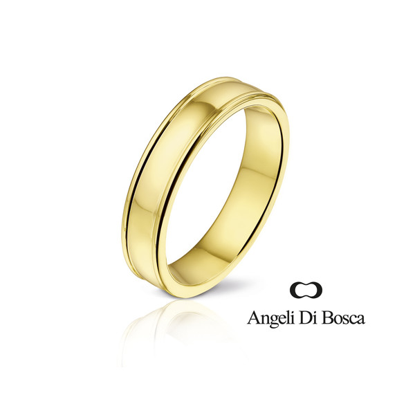 Bague alliance Angeli Di Bosca en or 18 carats - 4 ou 5 mm