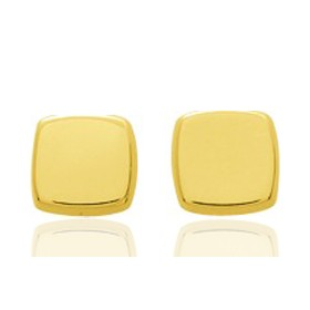 Boucles d'oreilles carrées   en or jaune 18 carats pour femme