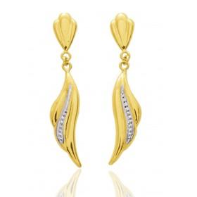 Boucles d'oreilles   en or jaune 18 carats rhodium pour femme