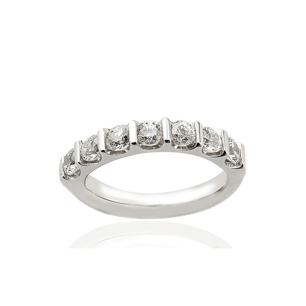 bague or blanc diamant barrette