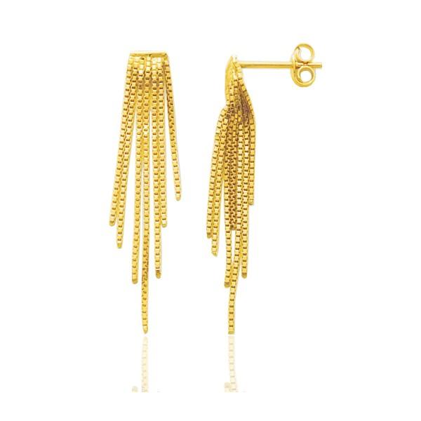 Pendants dégradés en or jaune 18 carats pour femme