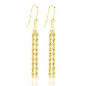 Pendants en or jaune 18 carats maille corde pour femme