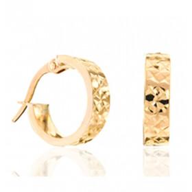 Créole pour homme en or jaune 18 carats