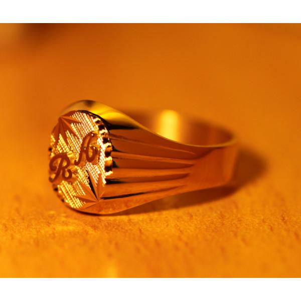 Chevalière ovale en or 18 carats  personnalisable  pour femme