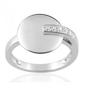 Bague or blanc 18 carats  et diamant 0,09 carat