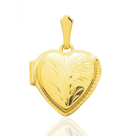Pendentif en or jaune 18 carats porte-photos