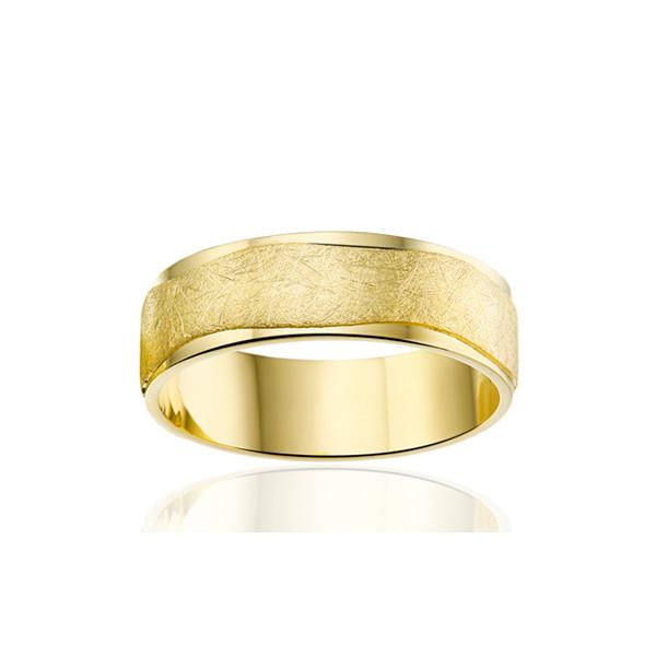 Bague alliances Angeli Di Bosca or jaune 18 carats et diamants 0,030 carat