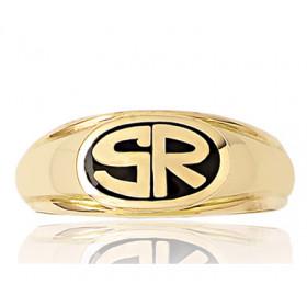 Chevalière en or 18 carats personnalisable pour homme