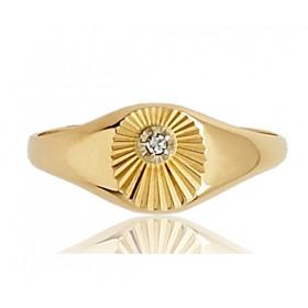 Chevaliere en or 18 carats et diamant pour femmes