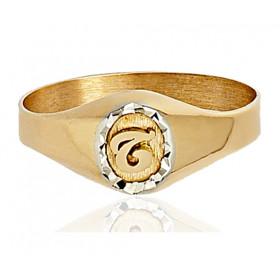 Chevaliere en or 750/1000 ovale et personnalisable pour femme