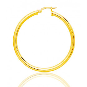 boucles d'oreilles créoles pour femmes en or jaune 18 carats de diamètre 45 mm