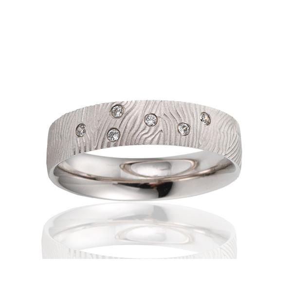 alliance breuning or blanc 18 carats et diamants 0,06 carat