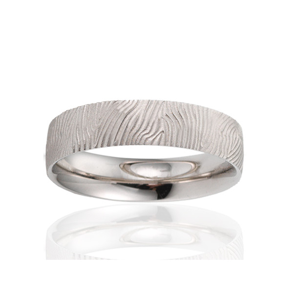 alliance breuning or blanc 18 carats pour homme
