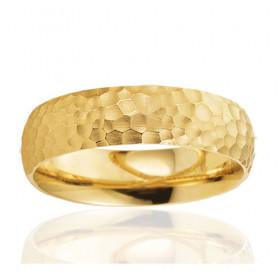 Bague alliance Breuning en or jaune 18 carats pour homme