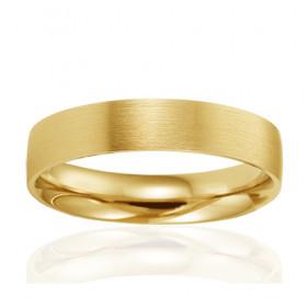 Alliance de mariage Breuning en or jaune 18 carats pour homme