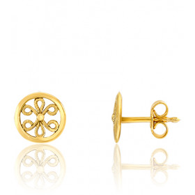 "Boucles d'oreilles or jaune 18 carats ""Belle Epoque"" filigrane"