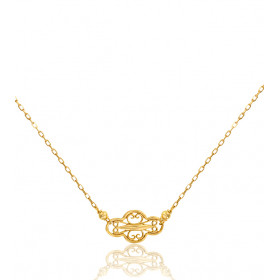 "Collier or jaune 18 carats ""Belle Epoque"" filigrane"