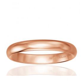 Bague alliance Breuning en or rose 18 carats pour homme