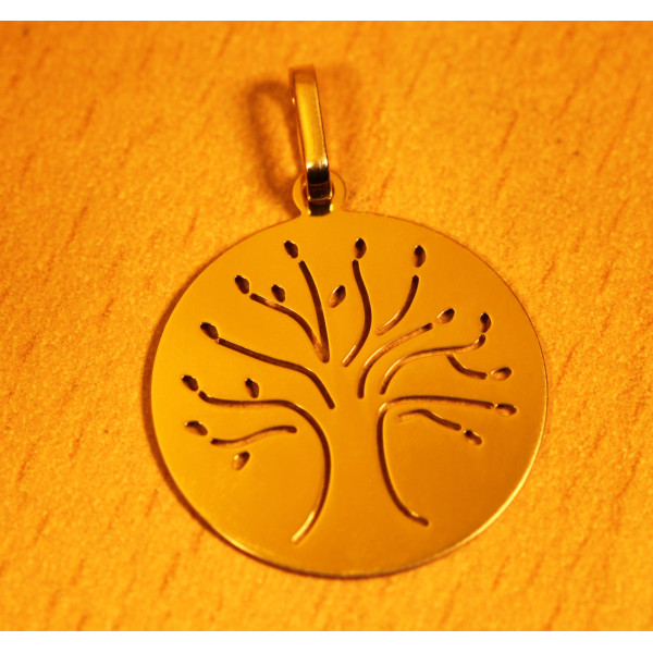 Pendentif or jaune 18 carats arbre de vie