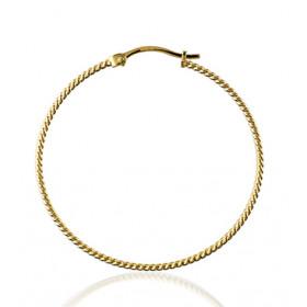 boucles d'oreilles or jaune 18 carats créoles tressées pour femmes