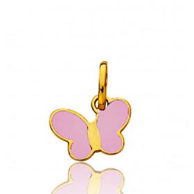 "Pendentif en or jaune 18 carats ""papillon"" 11 mm"
