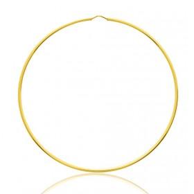 créoles or jaune 18 carats 70 mm pour femmes