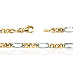 Bracelet deux ors 18 carats pour hommes