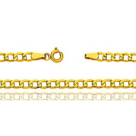Bracelet femme or jaune 18 carats maille gourmette 18 cm