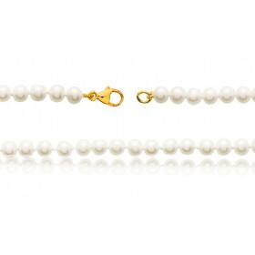 bracelet or 18 carats et perles de culture 6 mm