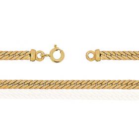Bracelet femme or jaune 18 carats maille Anglaise 18 cm