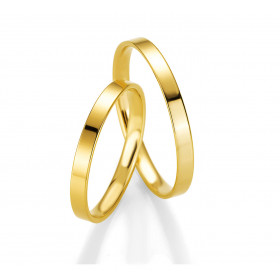 "Duo d'alliance femme or jaune 18 carats  BREUNING ""douce union"""