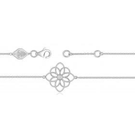 """Bracelet ajustable en or 18 carats et """"fleur de vie"""" diamants 0,02 carat pour femmes"""