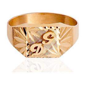 Chevaliere en or 750/1000 carrée personnalisable pour femme