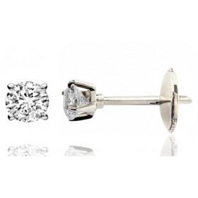 Puces d'oreilles or 18 carats et diamant 0,30 carat