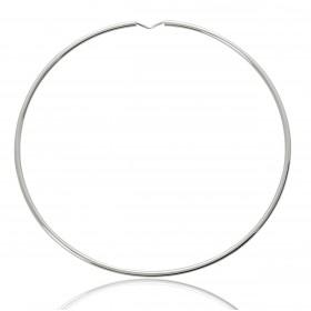 boucles d'oreilles créoles pour femme en or blanc 18 carats 70 mm