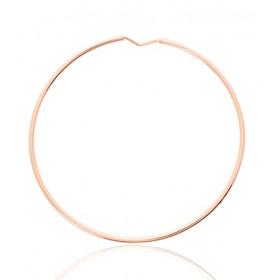 boucles d'oreilles créoles pour femmes en or rose 18 carats
