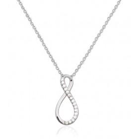 chaine or blanc et pendentif or blanc diamant 0,05 carat