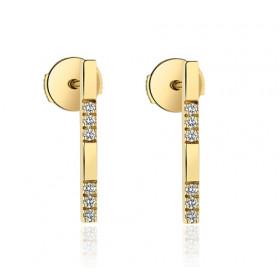 Boucles d'oreilles Garden Party en or jaune 18 carats et diamants