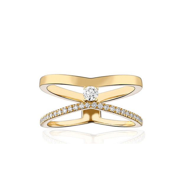 Bague Garden Party en or jaune 18 carats et diamants
