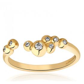Bague Garden Party en or jaune 18 carats et diamants 0,08 carat