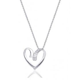 chaine de cou en or 18 carats et pendentif or blanc et diamant